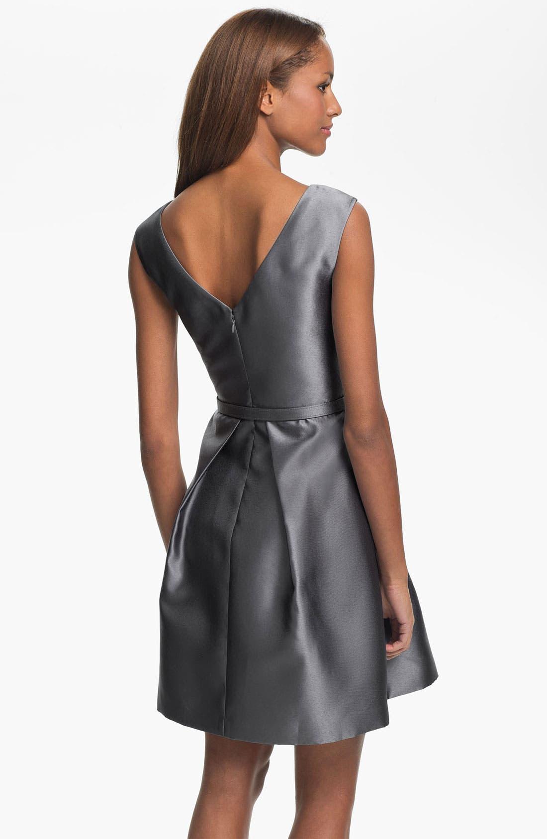 Alternate Image 2  - Eliza J V-Back Faille Fit & Flare Dress