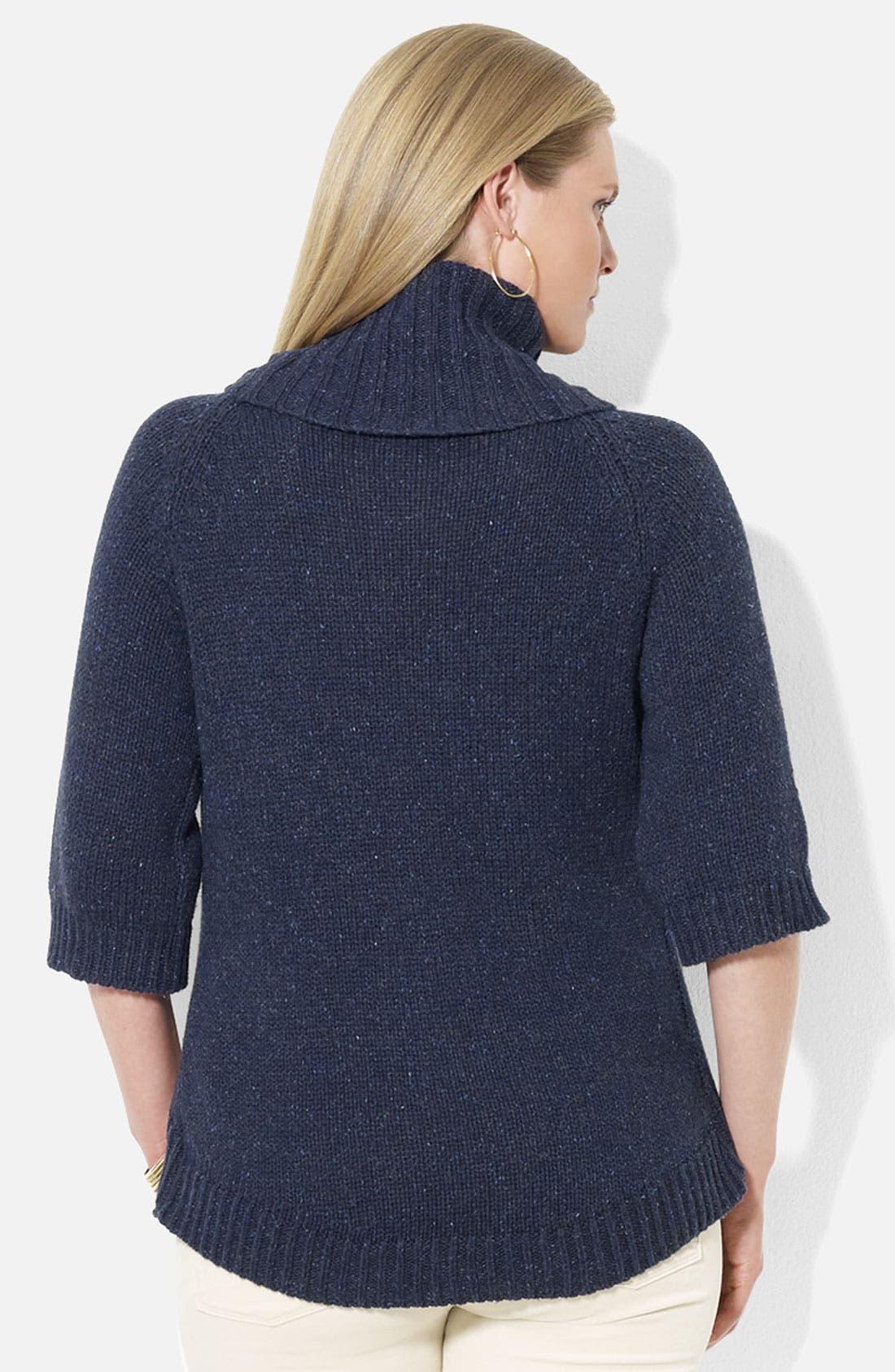 Alternate Image 2  - Lauren Ralph Lauren Turtleneck Sweater (Plus)