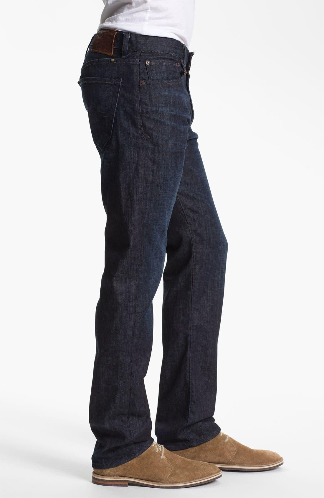 Alternate Image 3  - Lucky Brand 'Dean' Straight Leg Jeans (Dark Kingston) (Online Only)