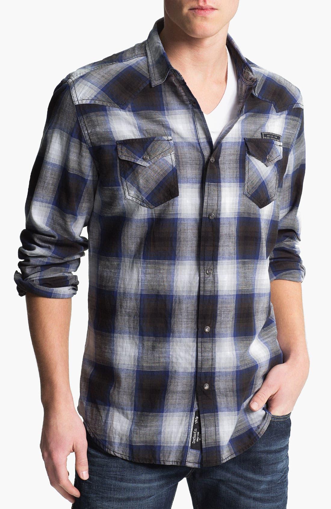 Alternate Image 1 Selected - DIESEL® 'Sulphur' Woven Shirt