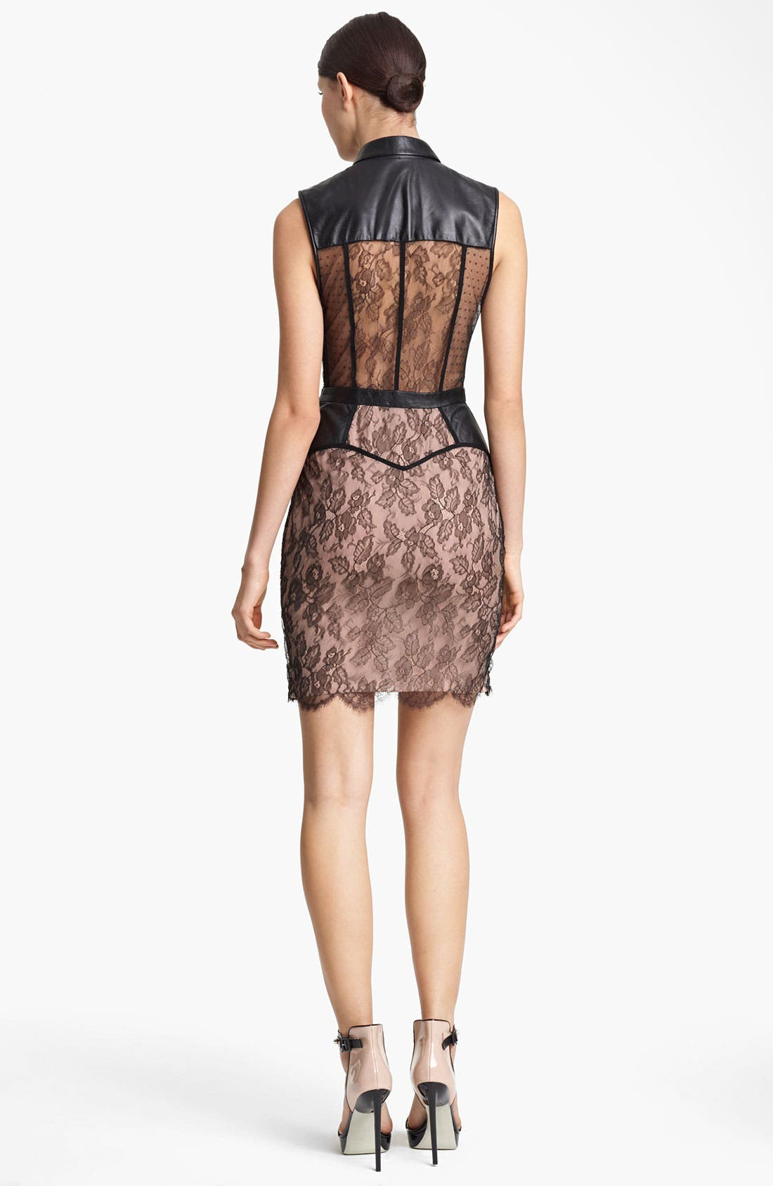 Alternate Image 2  - Jason Wu Belted Leather & Multi Lace Dress