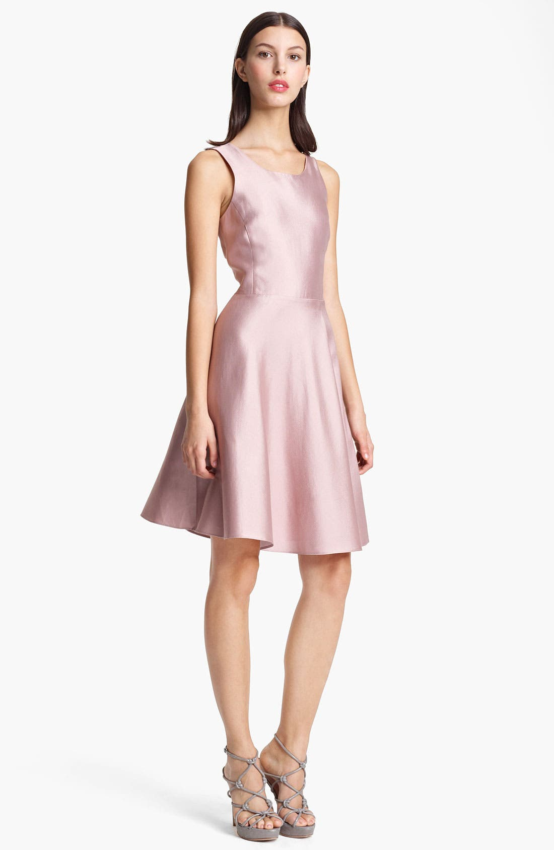 Alternate Image 1 Selected - Armani Collezioni Cross Back A-Line Dress