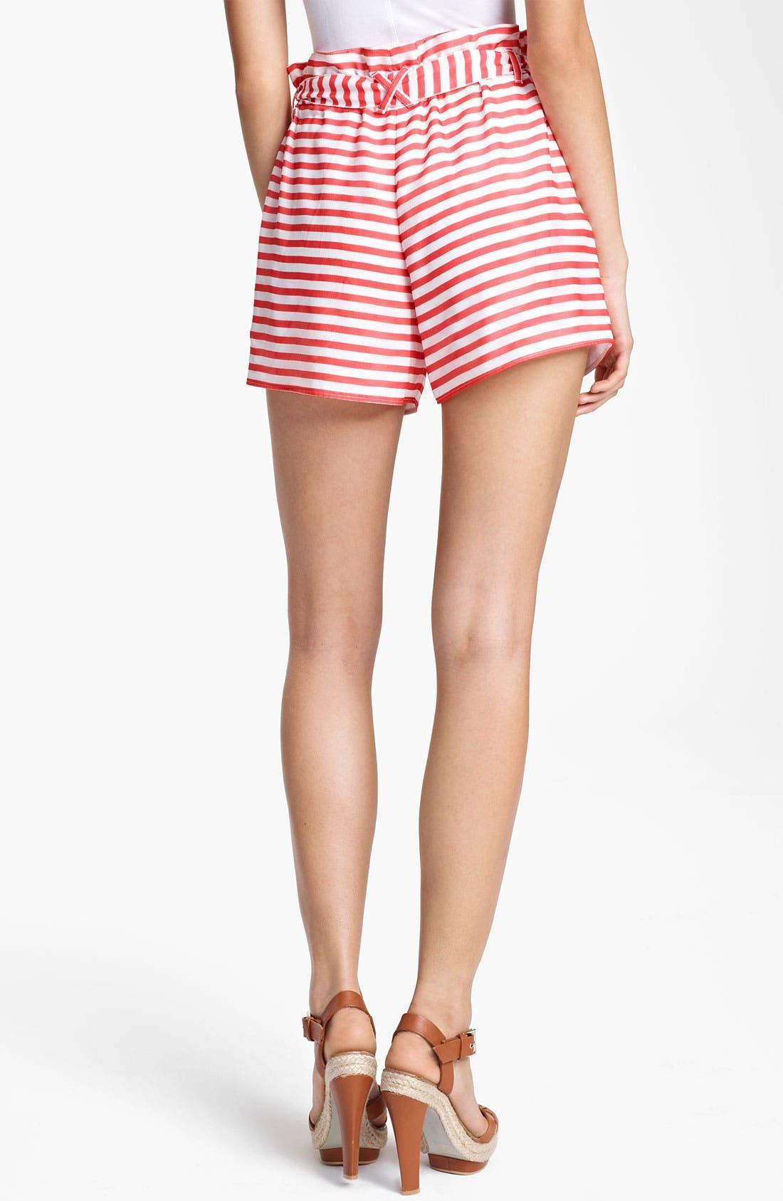 Alternate Image 2  - Armani Collezioni Nautical Stripe Shorts