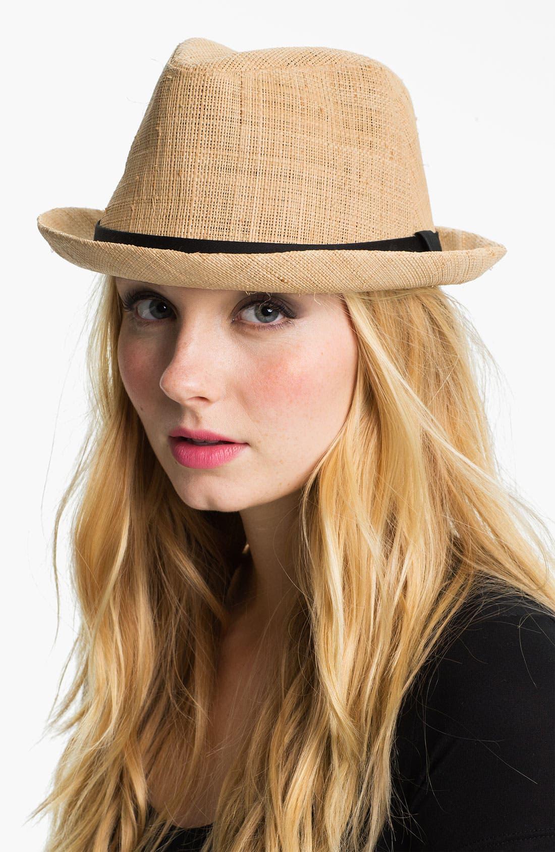 Alternate Image 1 Selected - San Diego Hat Raffia Fedora