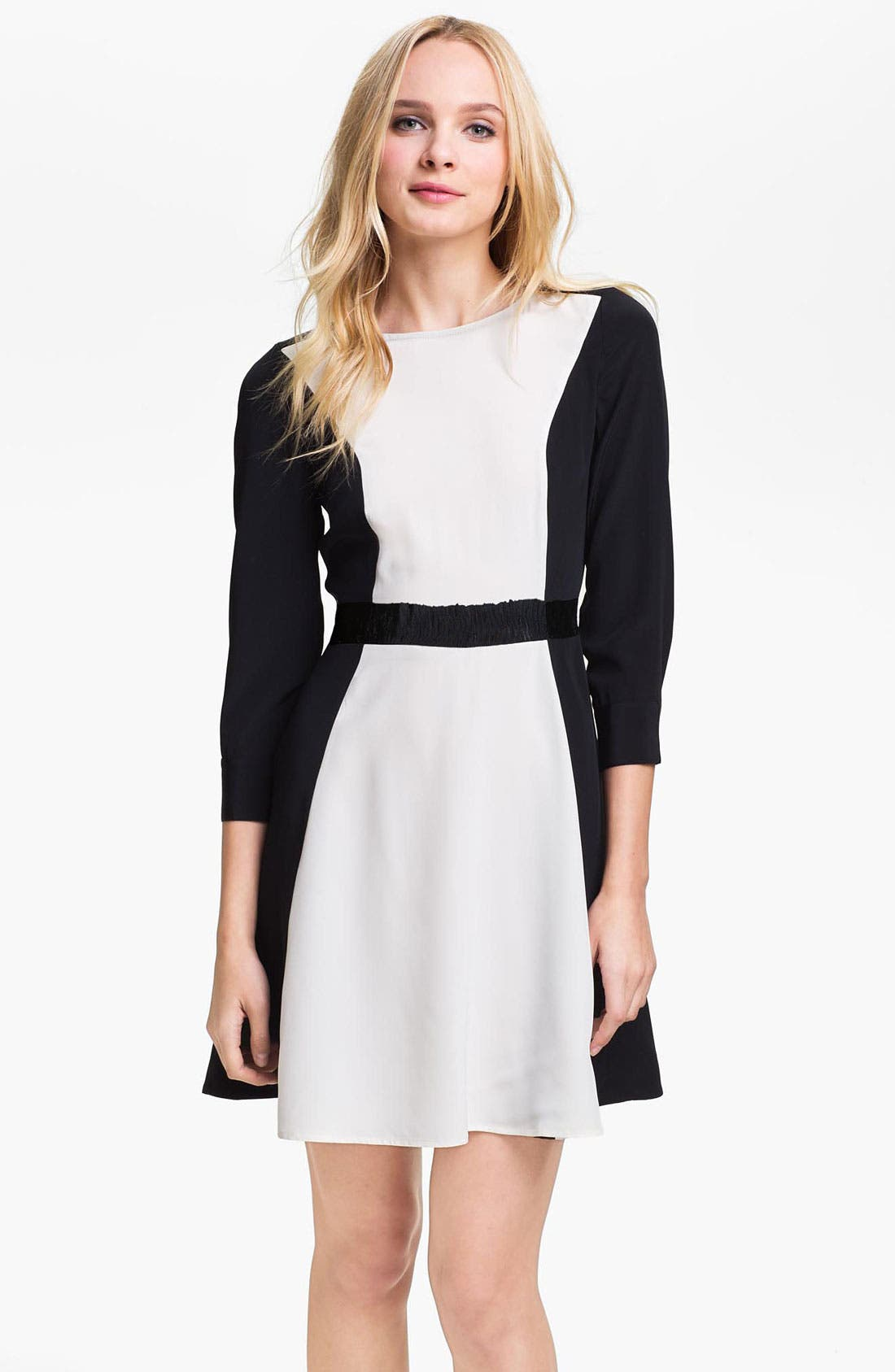 Main Image - MARC BY MARC JACOBS 'Avery' Colorblock Silk Dress