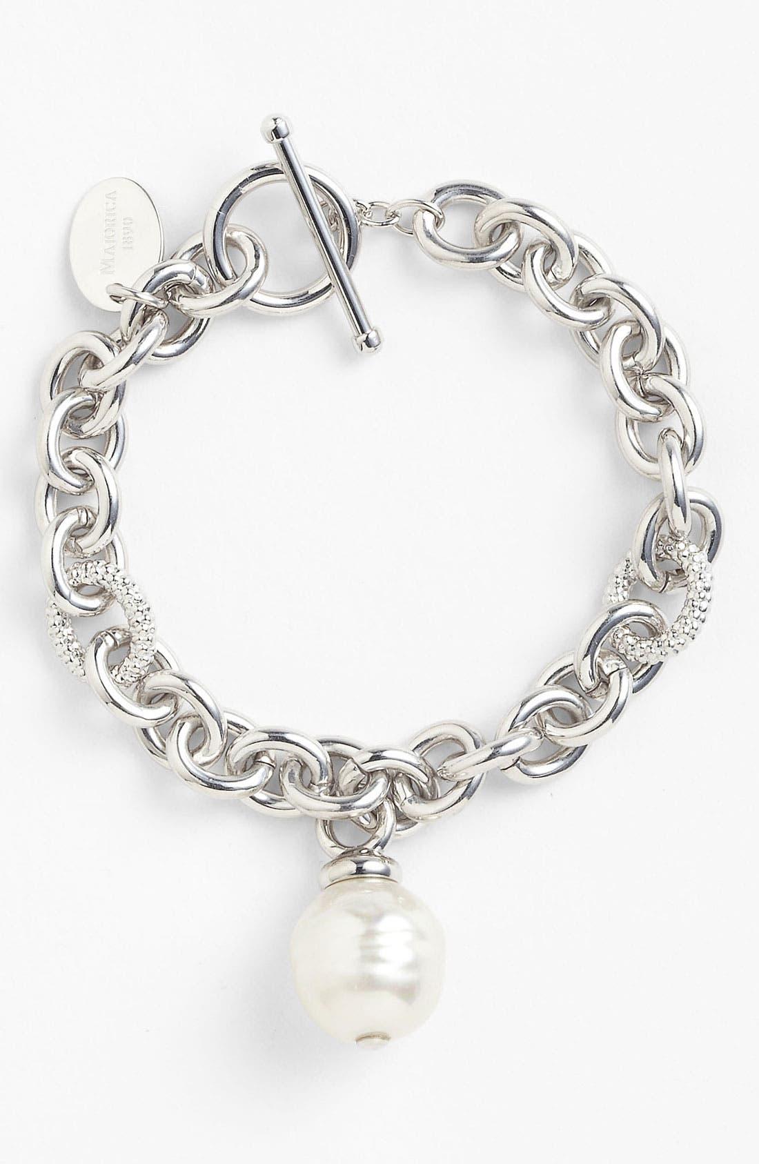 Main Image - Majorica 14mm Pearl Charm Bracelet