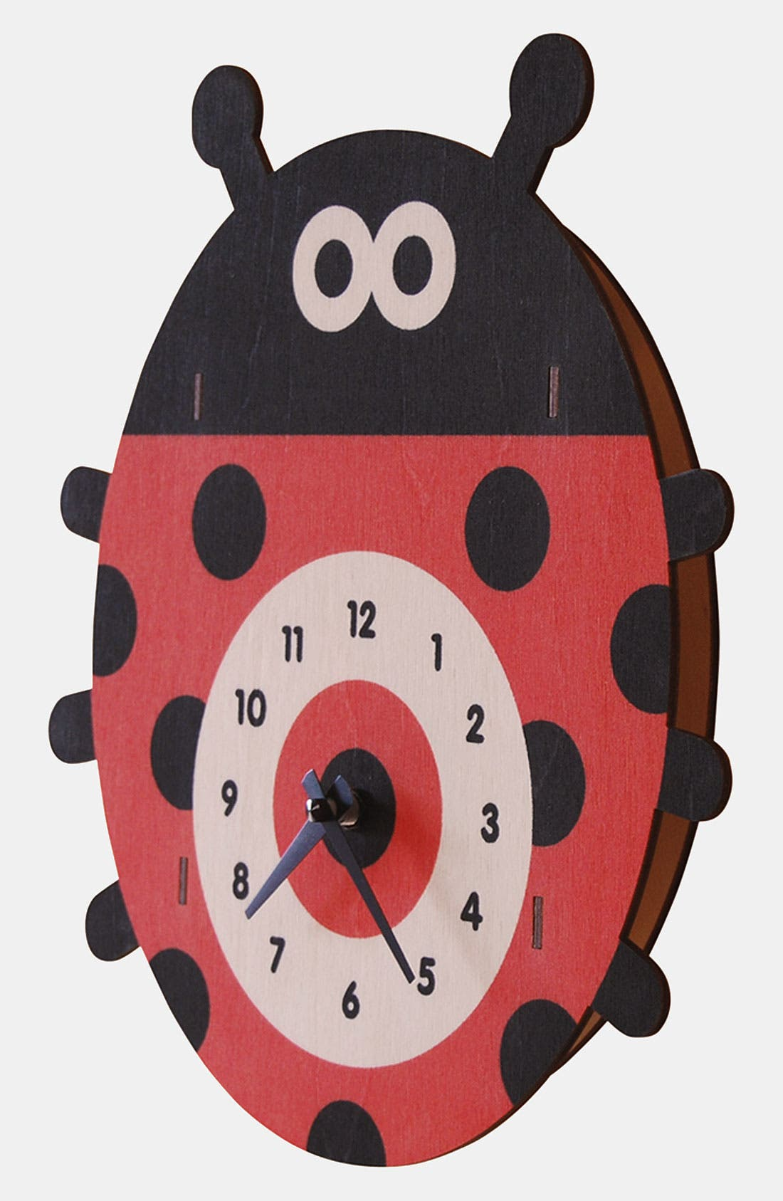 Alternate Image 2  - Modern Moose 'Ladybug' Clock