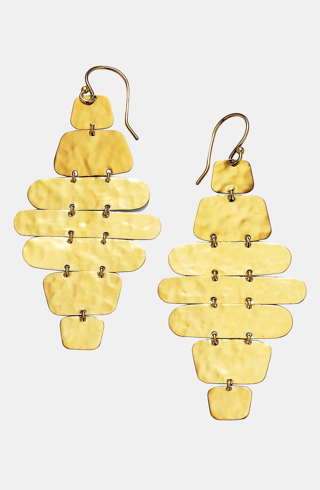 Alternate Image 1 Selected - Ippolita 'Crinkle' Hammered 18k Gold Cascade Earrings