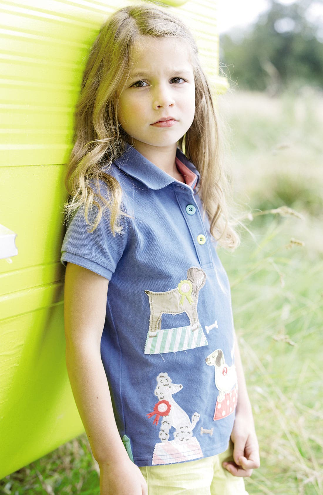 Alternate Image 2  - Mini Boden Appliqué Polo (Little Girls & Big Girls)