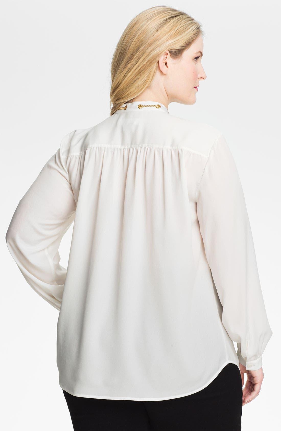 Alternate Image 2  - MICHAEL Michael Kors Chain Detail Shirt (Plus)