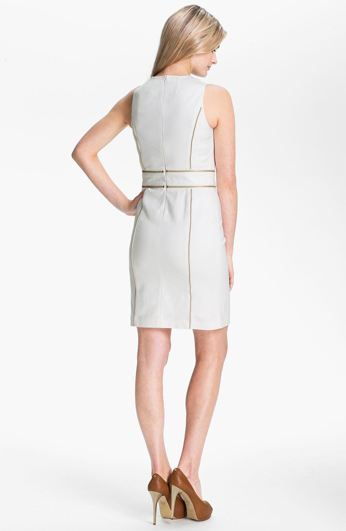 Alternate Image 2  - MICHAEL Michael Kors Zip Trim Sheath Dress