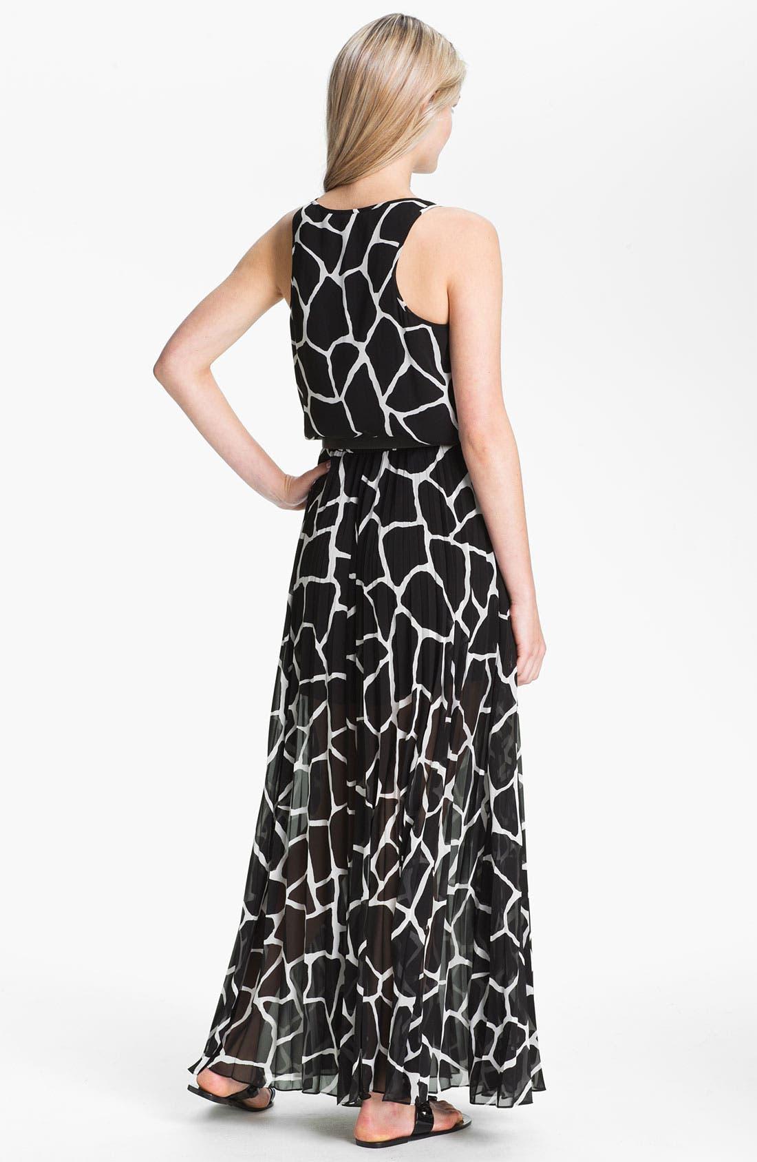 Alternate Image 2  - MICHAEL Michael Kors Pleated Chiffon Maxi Dress