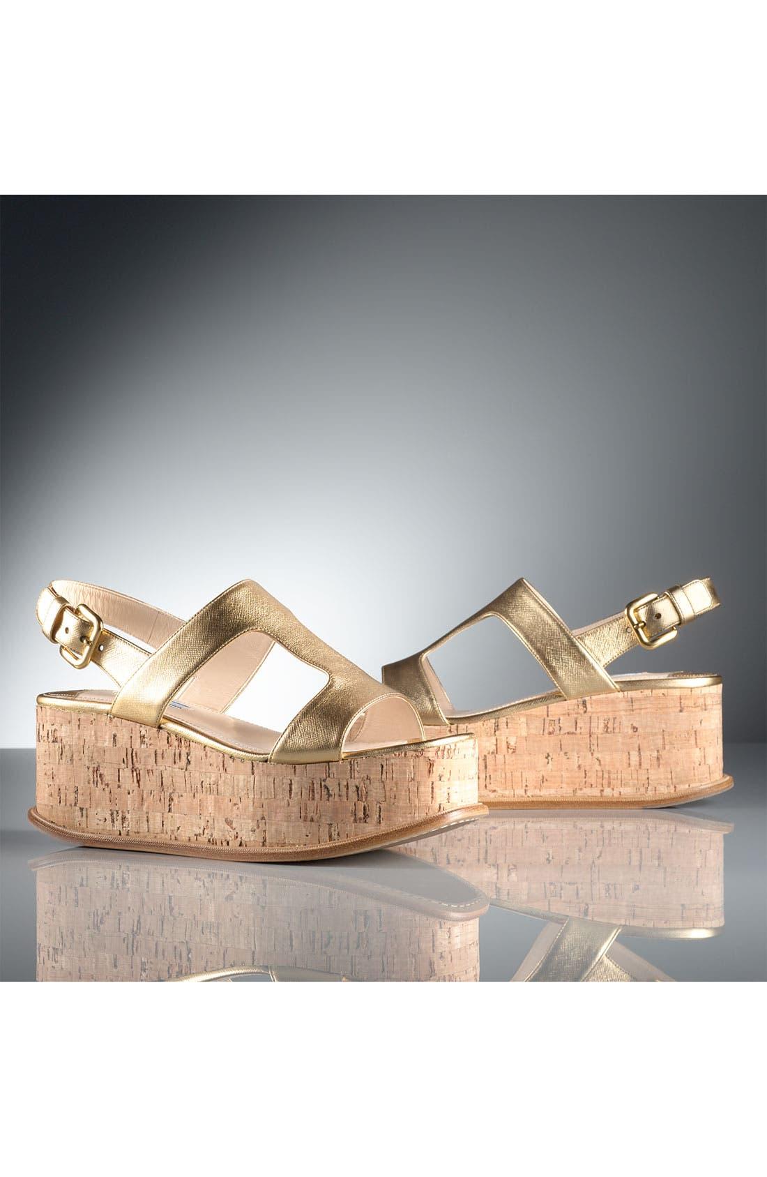 Alternate Image 6  - Prada T-Strap Platform Wedge Sandal