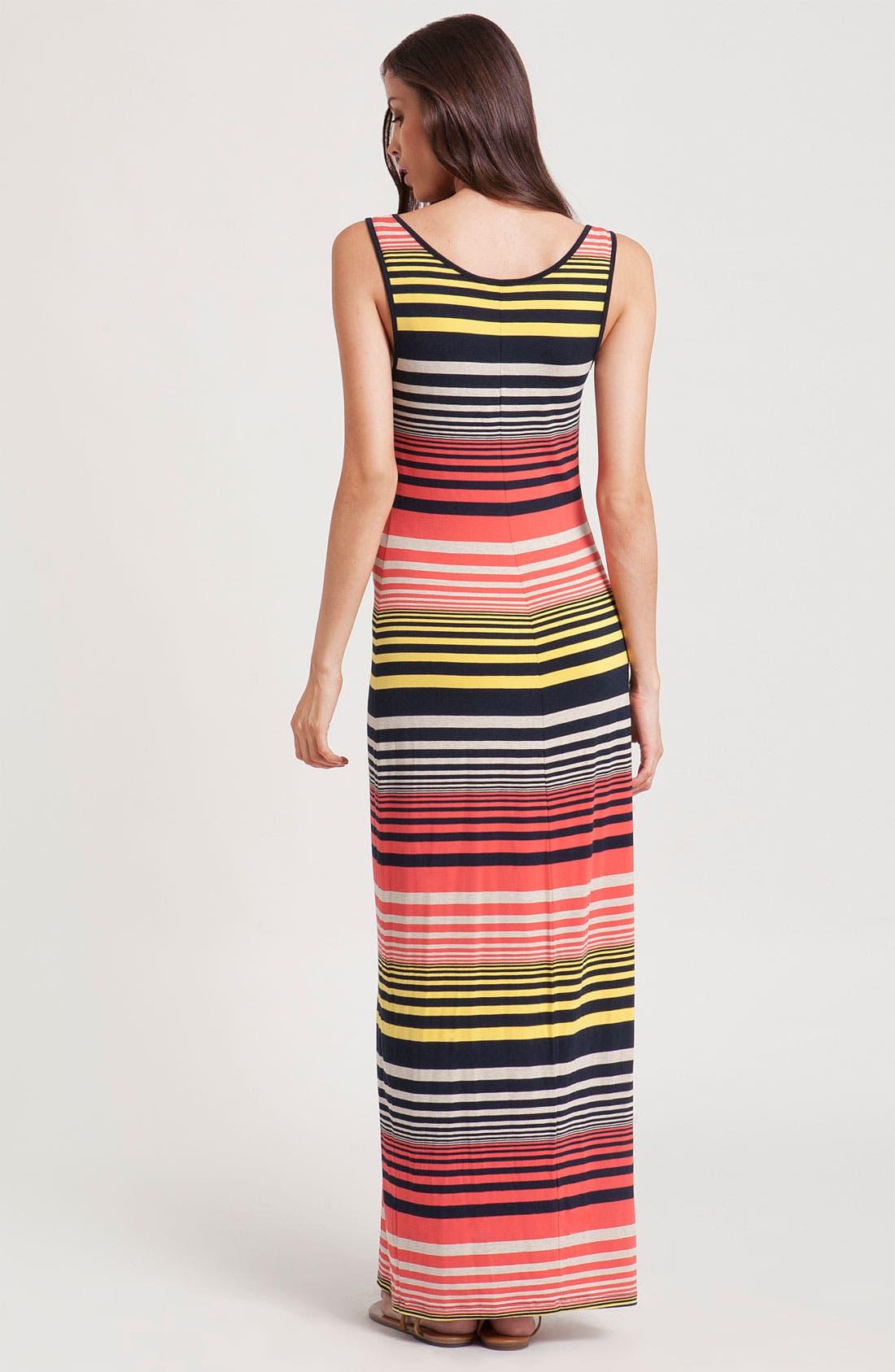 Alternate Image 2  - Three Dots Stripe Tank Maxi Dress