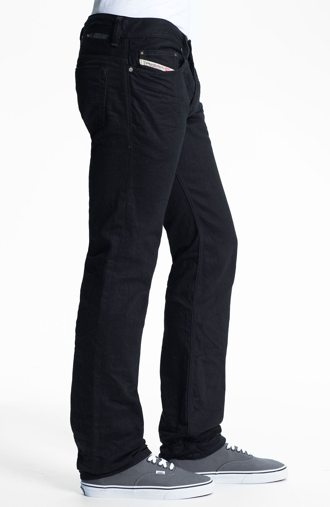 Alternate Image 3  - DIESEL® 'Safado' Slim Fit Jeans (Black)