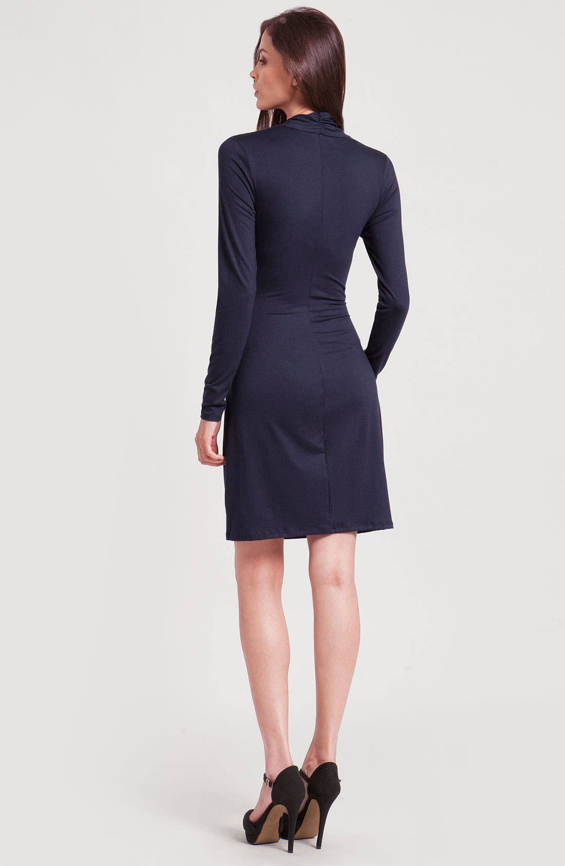 Alternate Image 2  - Three Dots Long Sleeve Faux Wrap Dress
