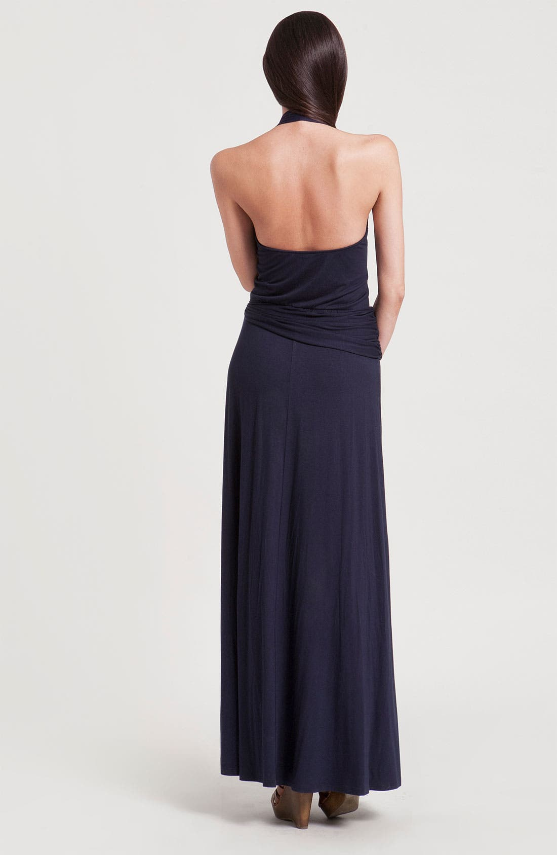 Alternate Image 2  - Three Dots Faux Wrap Halter Maxi Dress