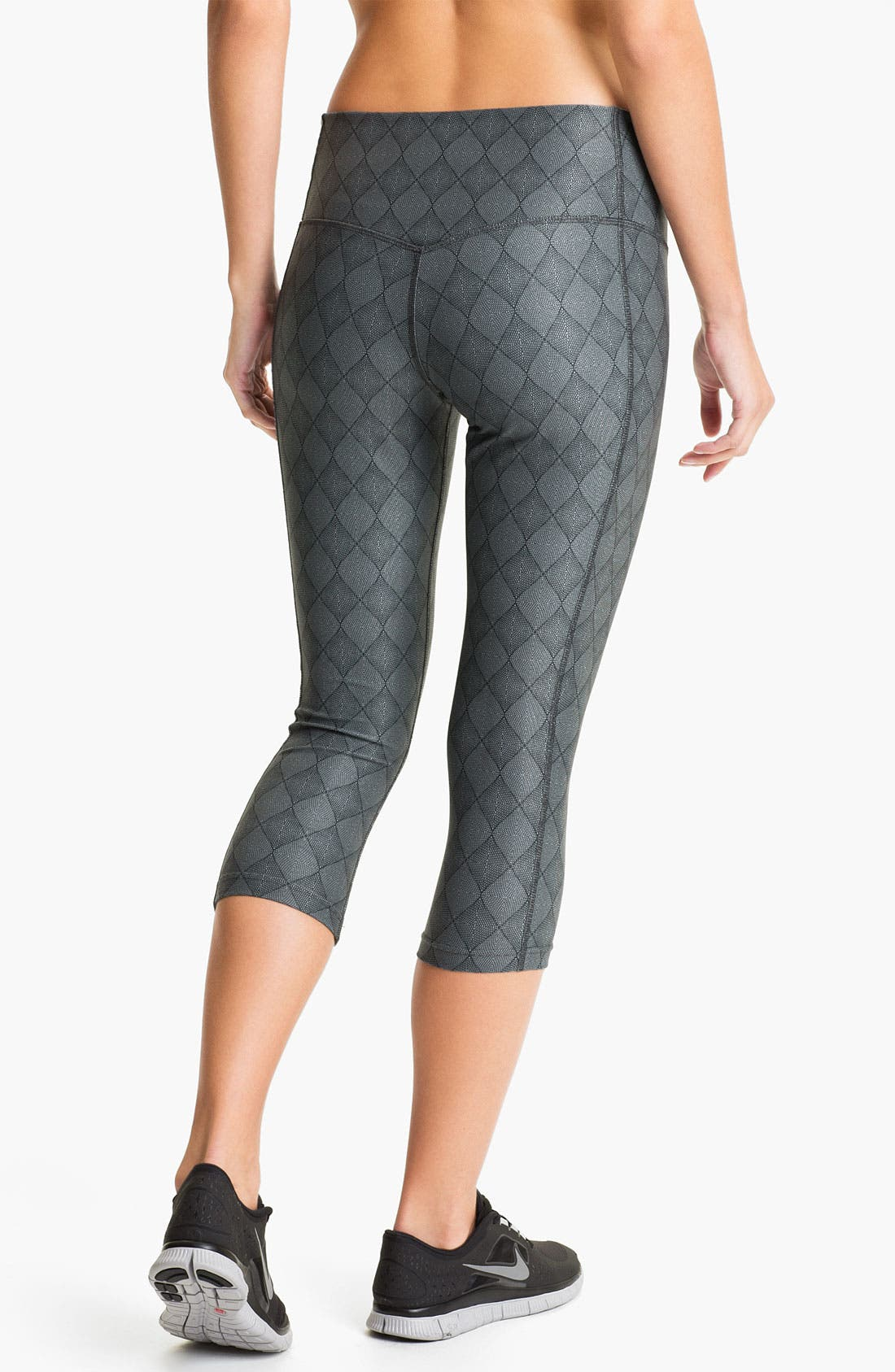 Alternate Image 2  - Nike 'Poly' Print Capri Tights