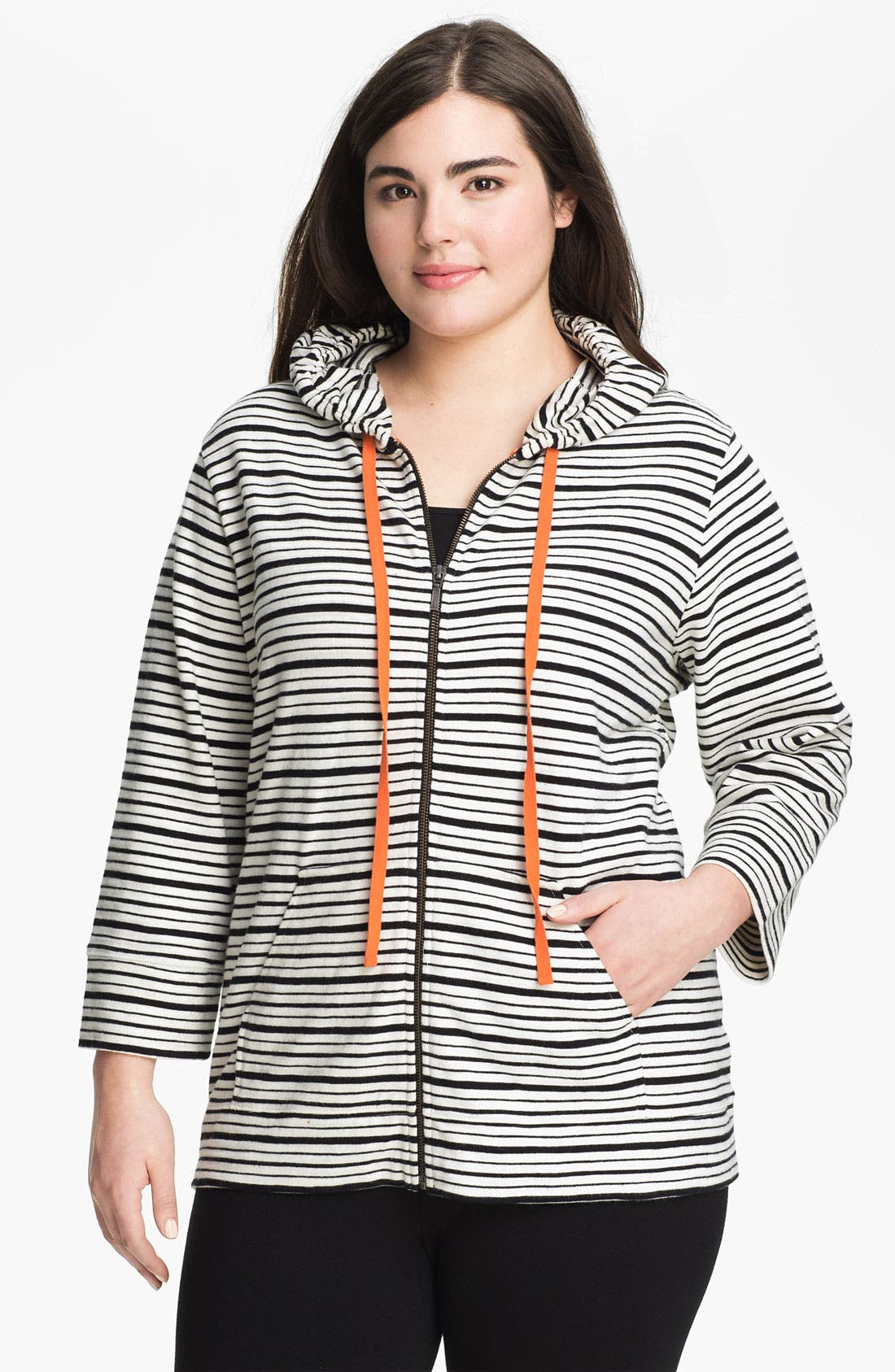 Alternate Image 1 Selected - Sejour Weekend Zip Hoodie (Plus)