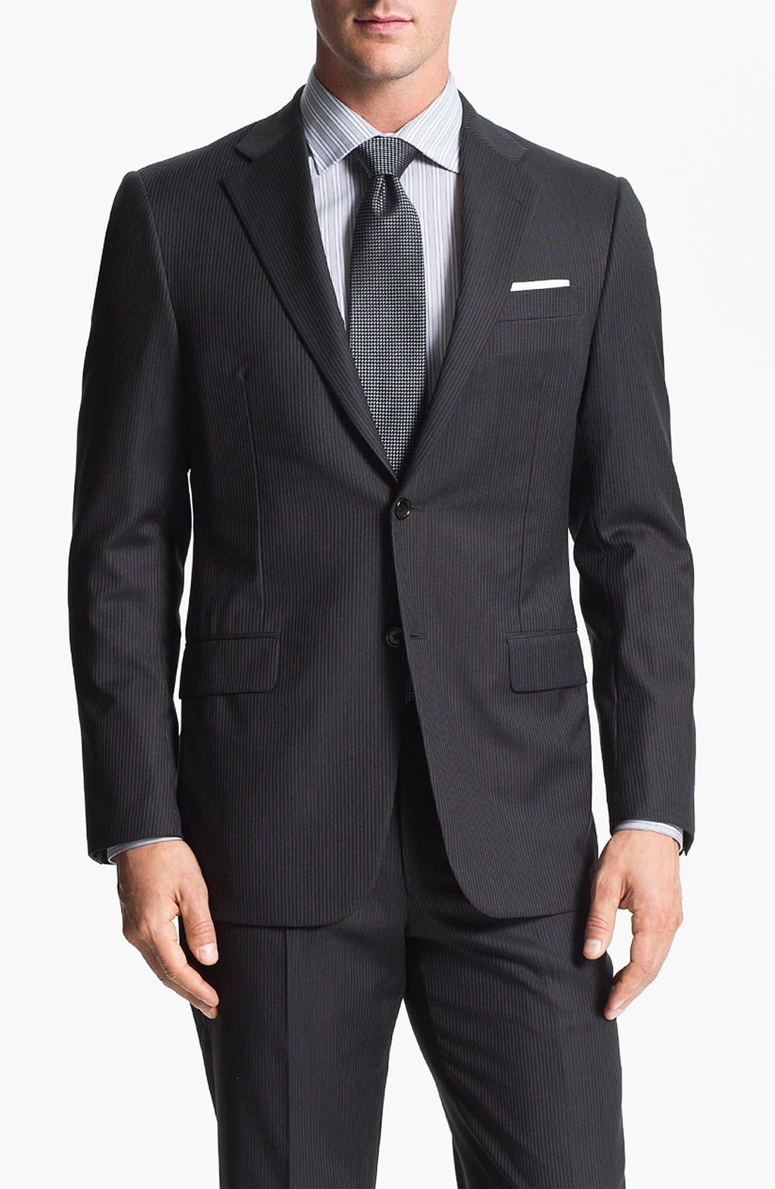 Main Image - Hickey Freeman 'Beacon' Stripe Wool Suit