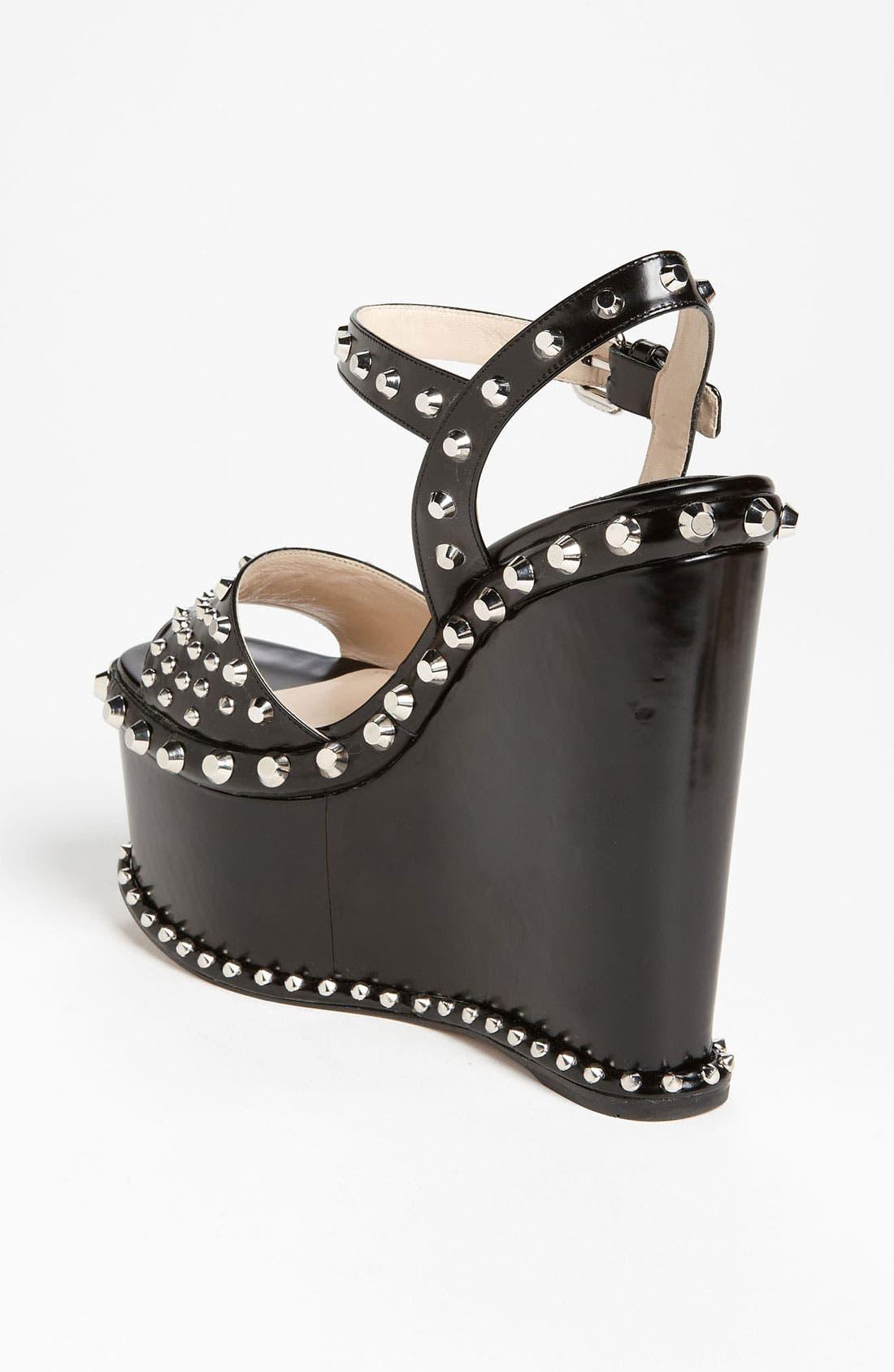 Alternate Image 2  - Prada Studded Wedge Sandal