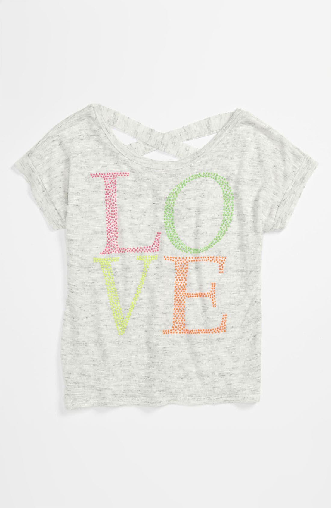 Alternate Image 1 Selected - Kiddo 'Love' Top (Little Girls)
