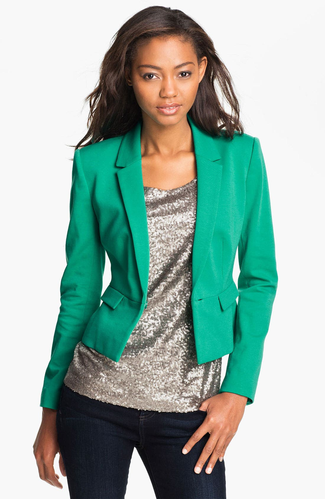 Alternate Image 1 Selected - Halogen® Ponte Knit Blazer
