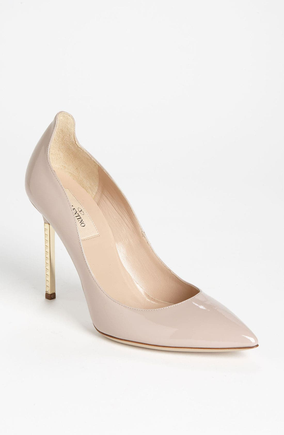 Alternate Image 1 Selected - Valentino Studded Stiletto Metal Heel Pump