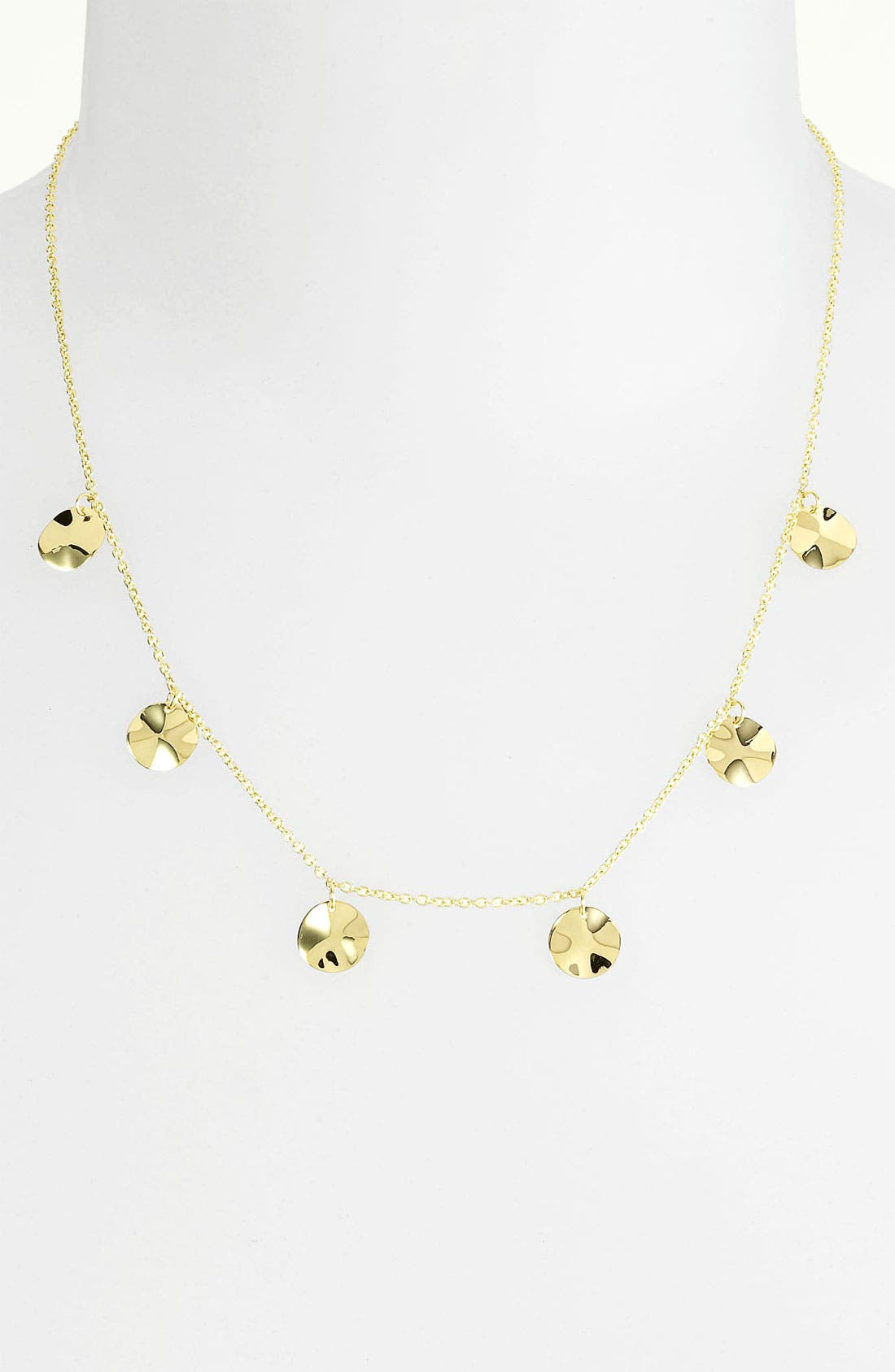 Alternate Image 1 Selected - Ippolita 'Plain' Paillette 18k Gold Necklace