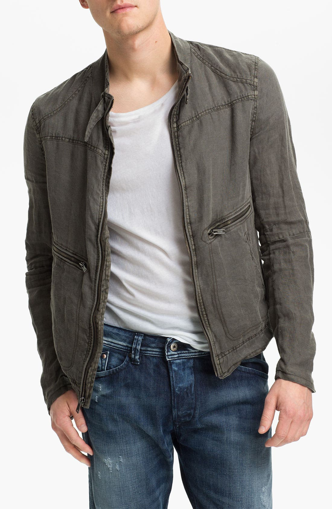 Alternate Image 1 Selected - Rogue Linen Moto Jacket