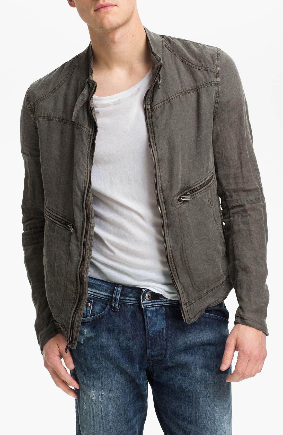 Main Image - Rogue Linen Moto Jacket