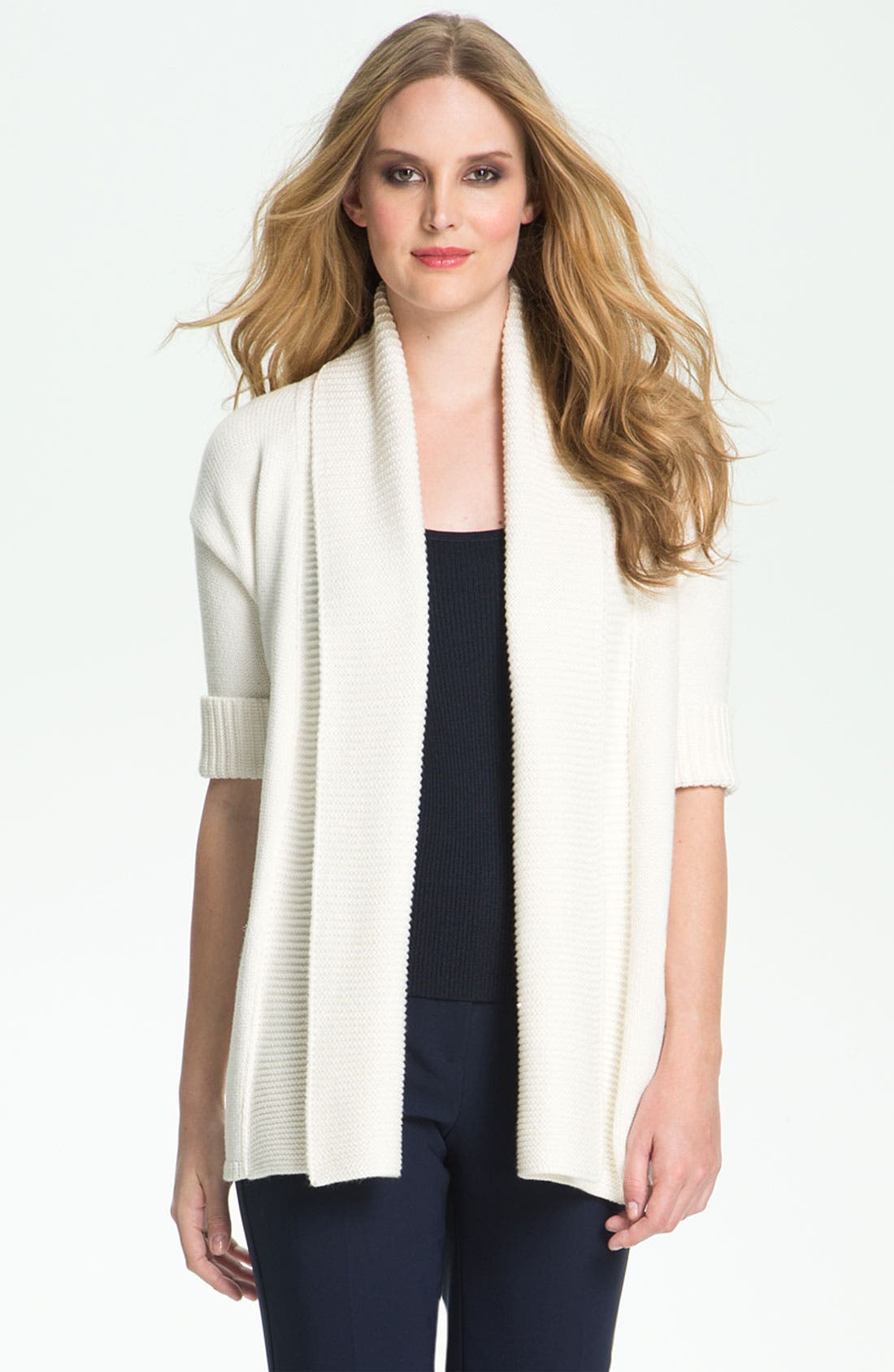 Alternate Image 2  - St. John Yellow Label Elbow Sleeve Cardigan