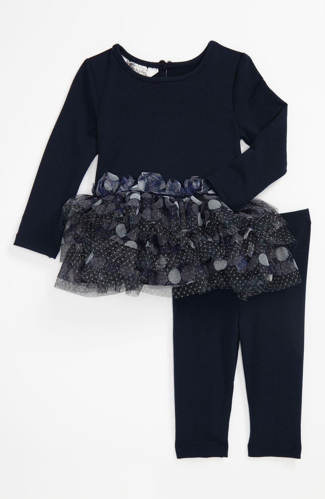 Main Image - Pippa & Julie Knit Top & Leggings (Infant)