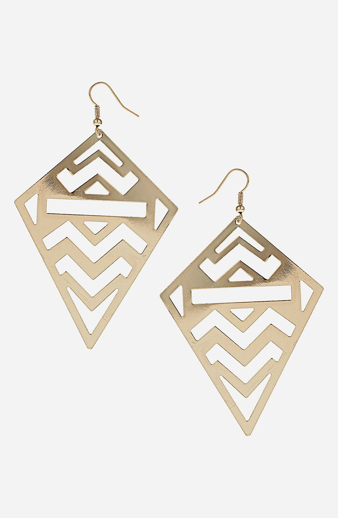 Alternate Image 1 Selected - Topshop Zigzag Cutout Earrings
