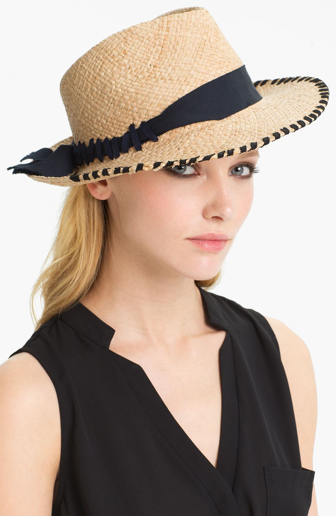 Alternate Image 1 Selected - Lanvin Whipstitch Straw Fedora
