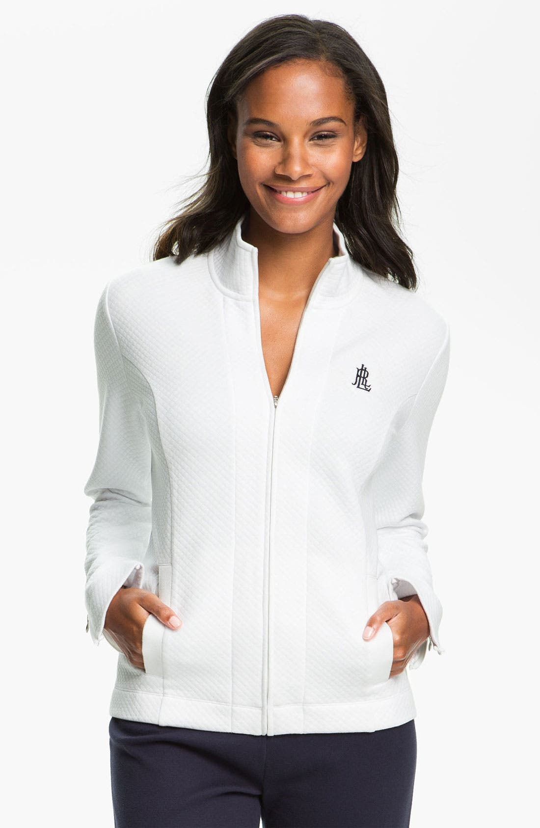 Alternate Image 1 Selected - Lauren Ralph Lauren Sleepwear Zip Front Lounge Jacket