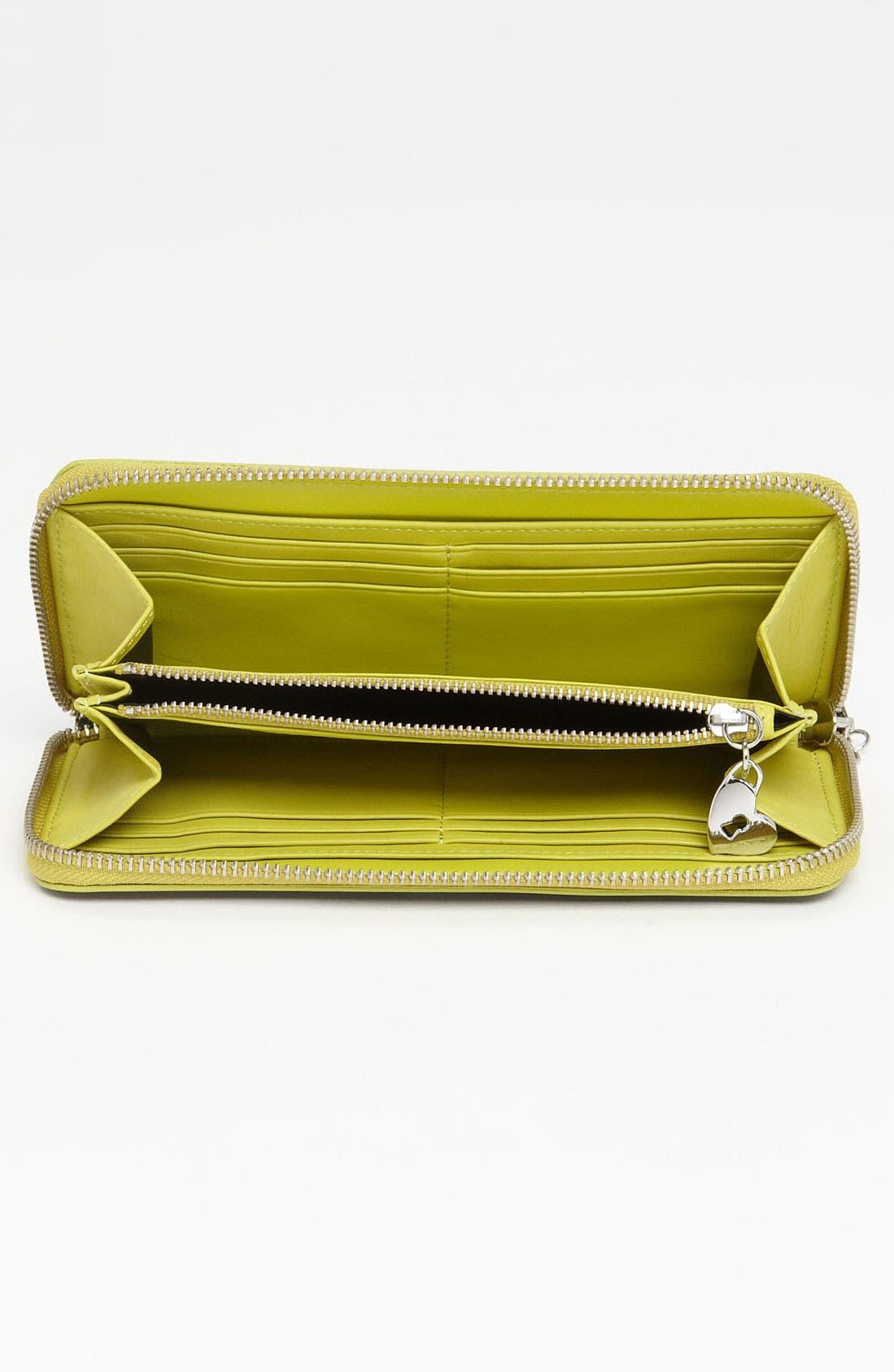 Alternate Image 3  - Diane von Furstenberg Heart Charm Patent Leather Wallet
