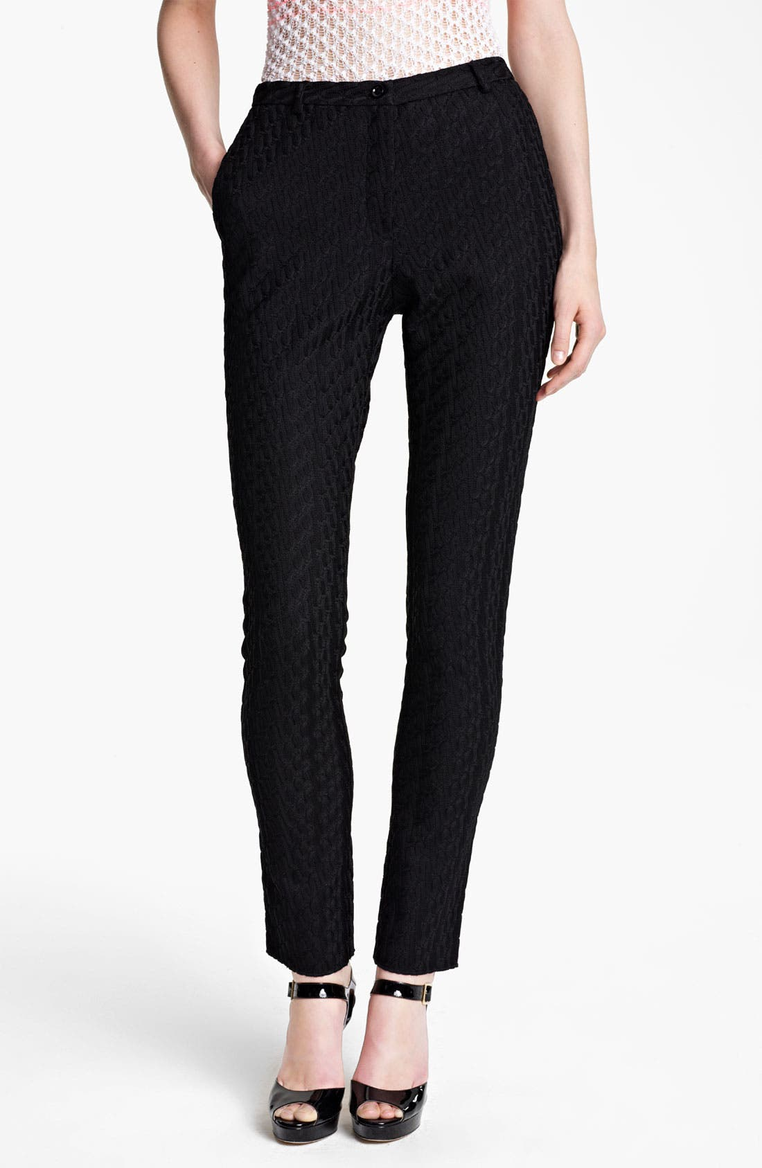 Alternate Image 1 Selected - Missoni Straight Leg Knit Ankle Pants
