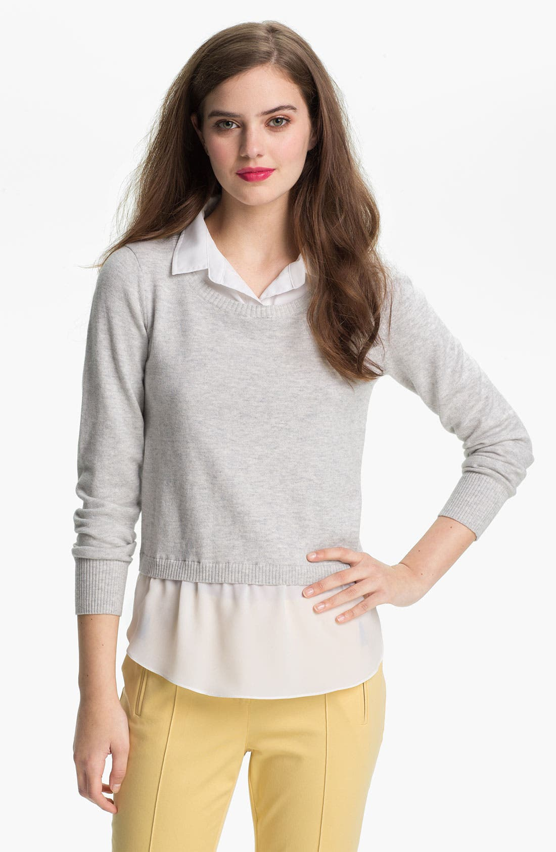 Alternate Image 1 Selected - DKNYC Mock Two Piece Sweater