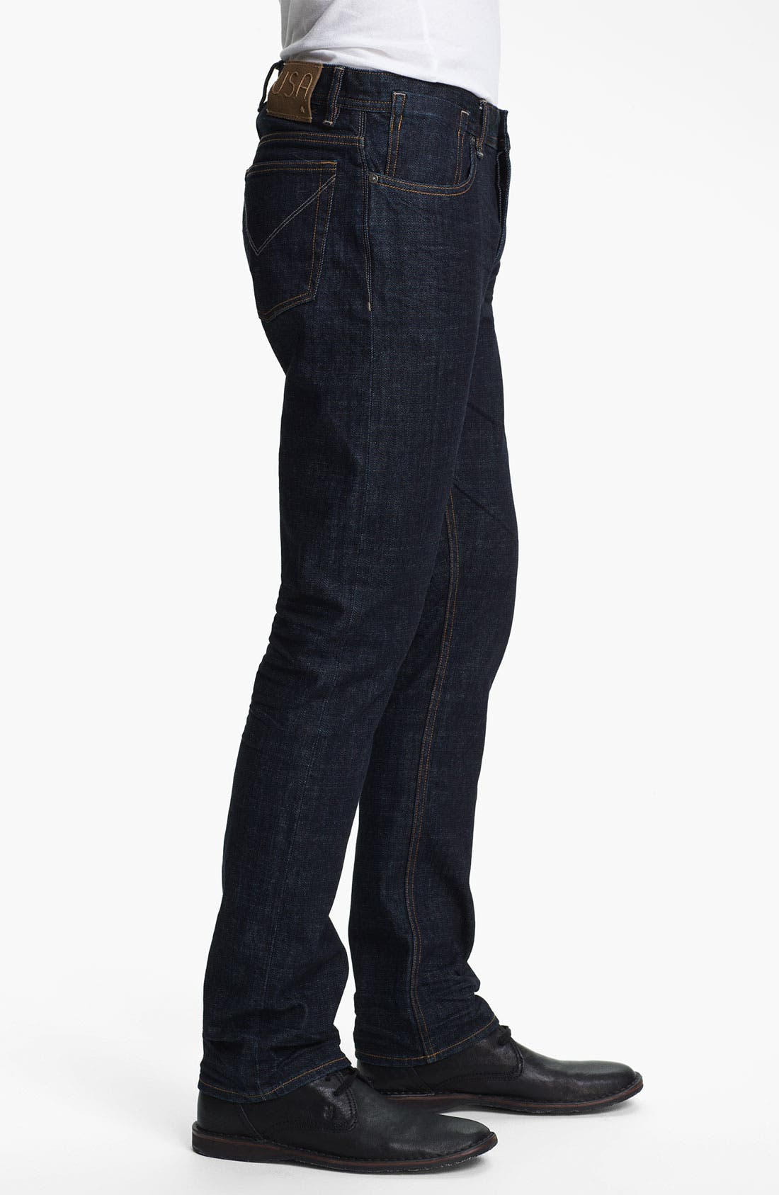 Alternate Image 3  - John Varvatos Star USA Straight Leg Jeans (Indigo)