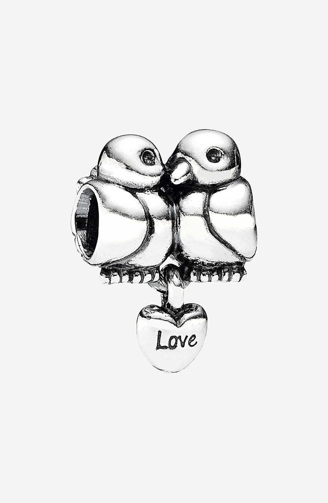 Alternate Image 1 Selected - PANDORA 'Lovebirds' Heart Dangle Charm