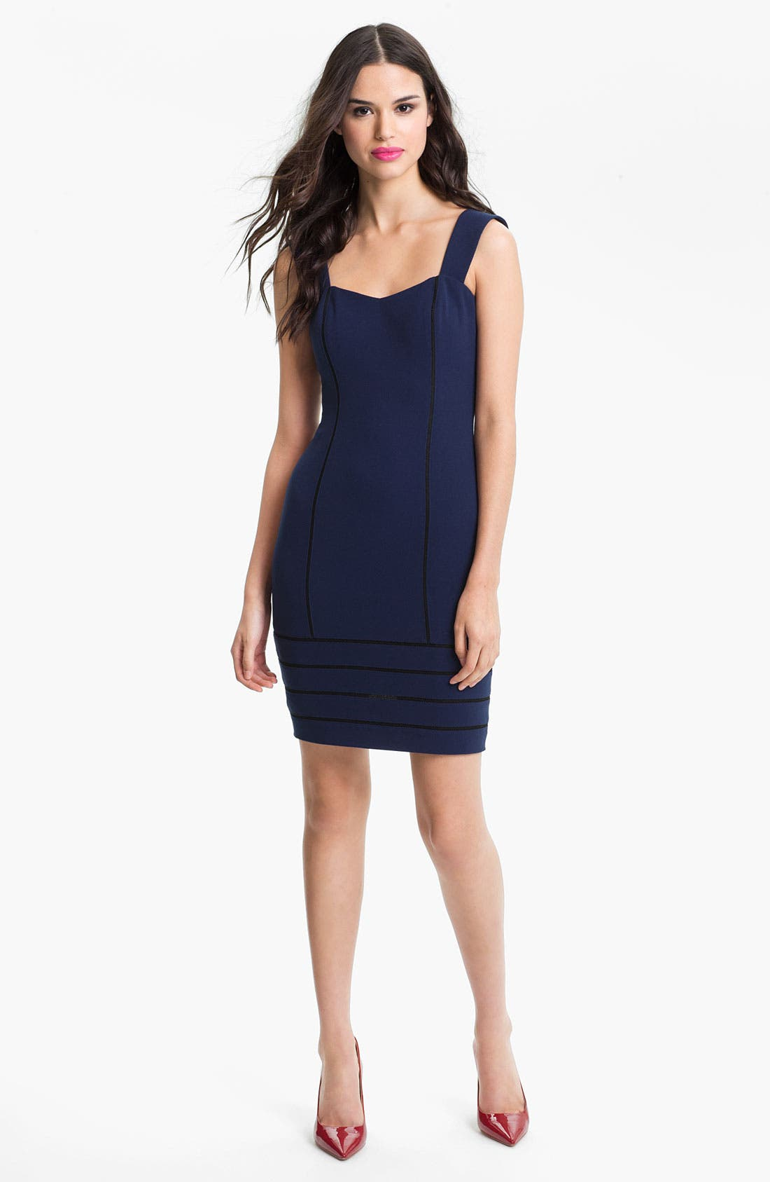 Main Image - Aidan by Aidan Mattox Contoured Sweetheart Sheath Dress