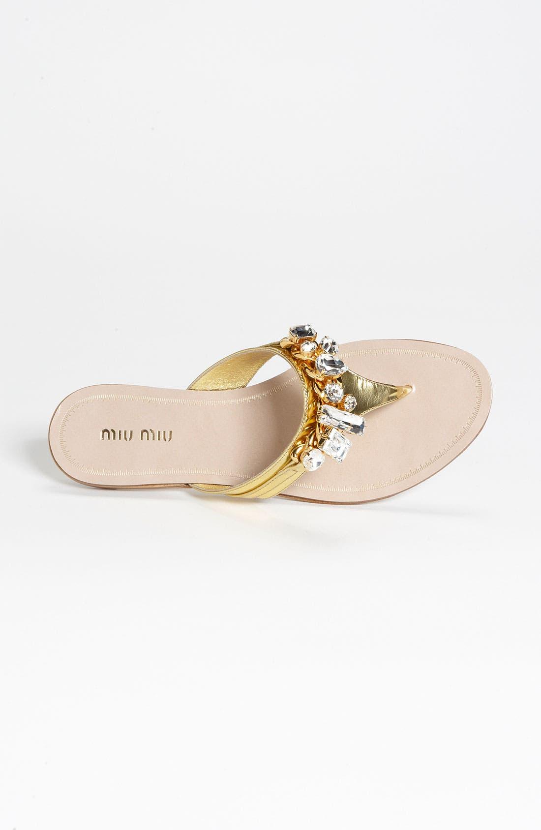 Alternate Image 3  - Miu Miu Jeweled Thong Sandal