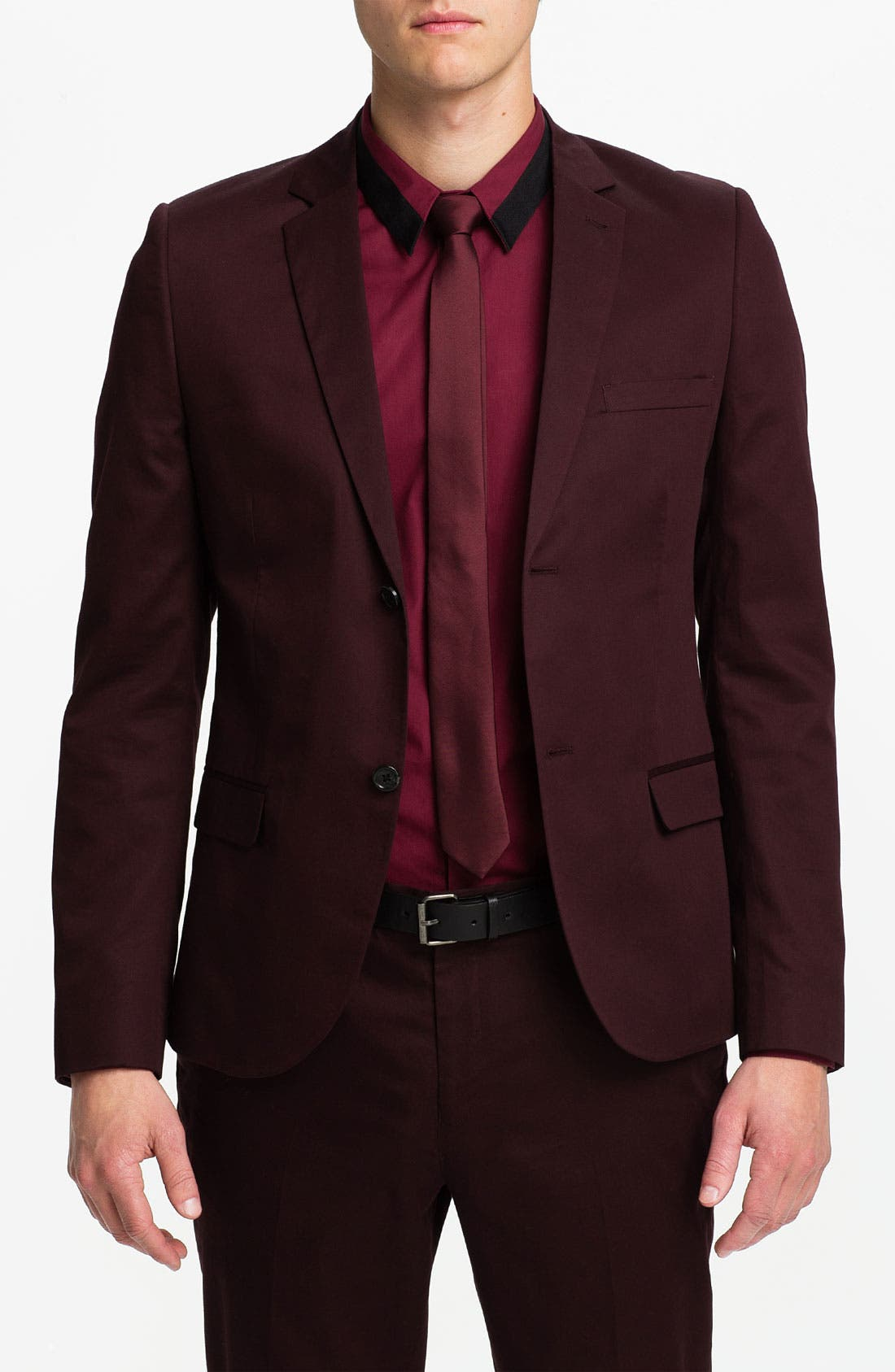 Main Image - Topman Skinny Fit Cotton Blazer