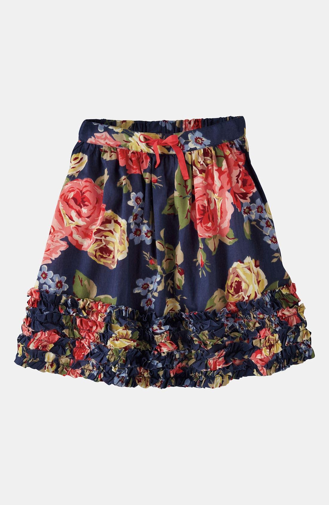 Main Image - Mini Boden Ruffle Hem Skirt (Little Girls & Big Girls)