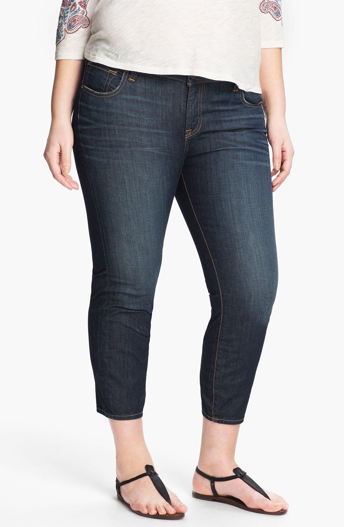 Alternate Image 1 Selected - Lucky Brand 'Ginger' Skinny Capri Jeans (Plus Size)