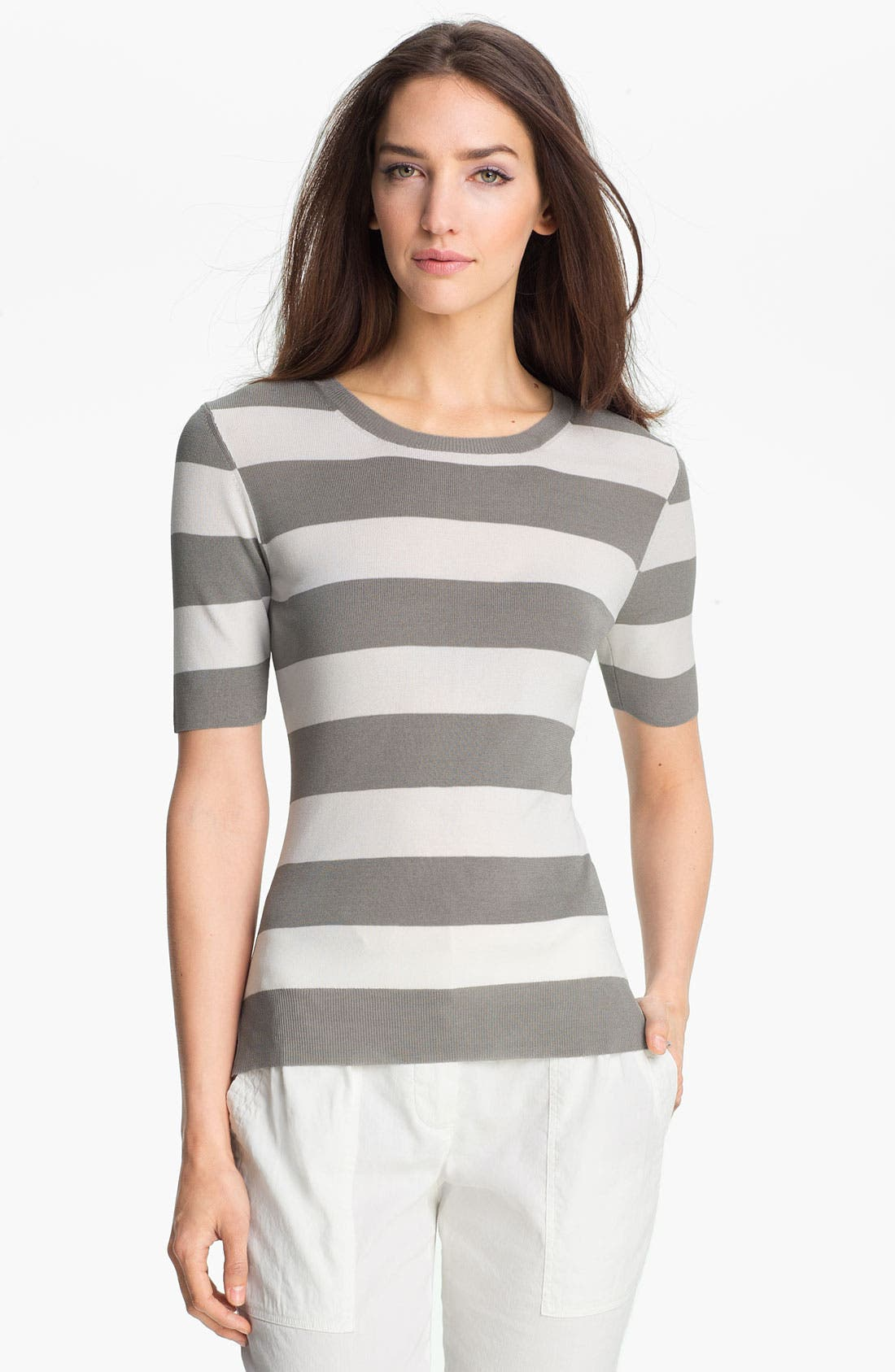 Alternate Image 1 Selected - Theory 'Symon S.' Stripe Sweater