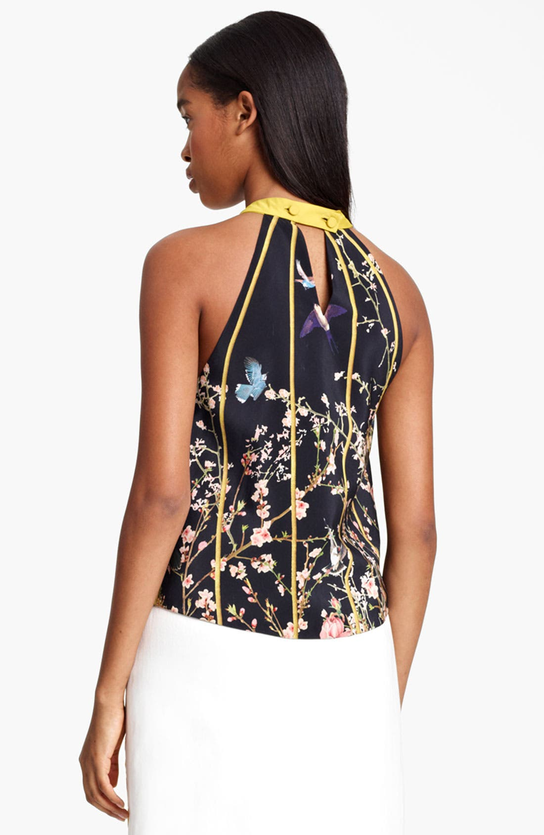 Alternate Image 3  - Thakoon Birdcage Print Silk Top