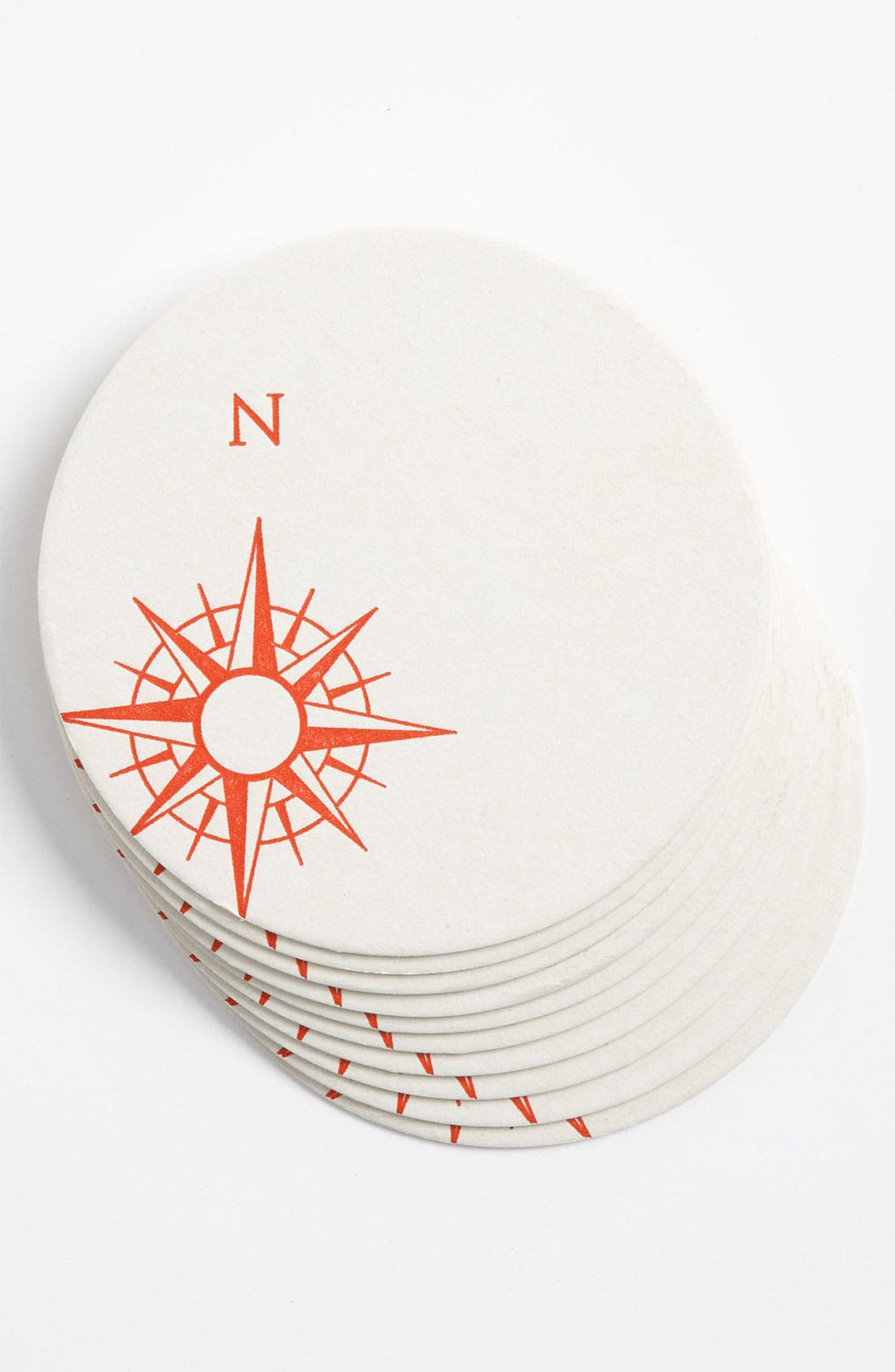 Main Image - 'Compass' Letterpress Coasters (Set of 10)