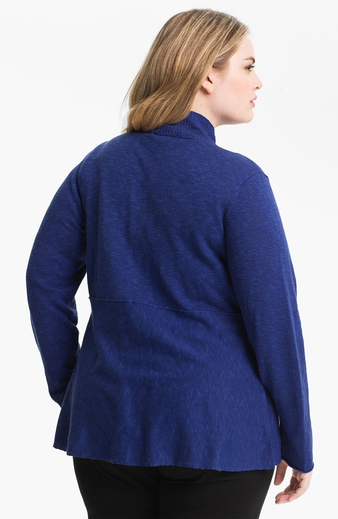Alternate Image 2  - Eileen Fisher Shaped Cardigan (Plus)